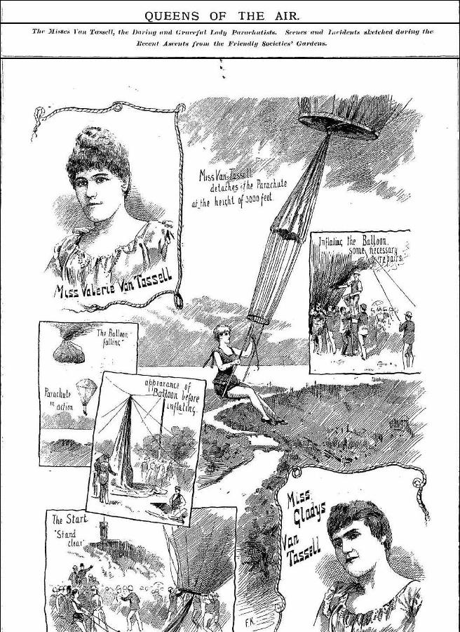 The Van Tassel Sisters in The Melbourne Punch