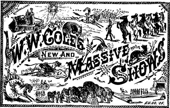 Cole's Circus Advertisement 1880