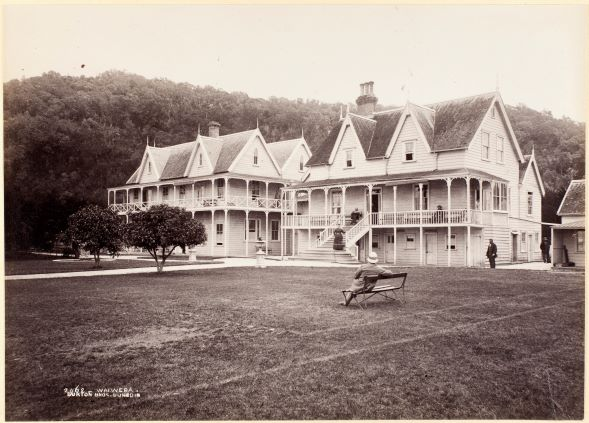 Waiwera, circa 1880, Dunedin, by Burton Brothers studio. Te Papa (O.034298)