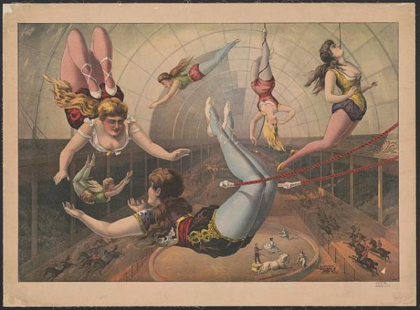 Female Trapeze Artists c1890