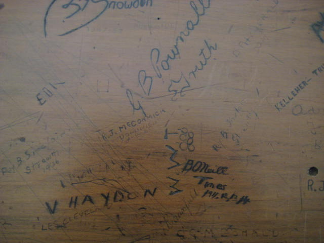 Graffiti on Media Bench