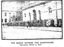Queue outside Courthouse